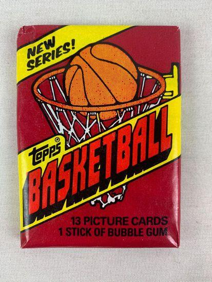 1981-82 Topps Unopened Basketball Pack