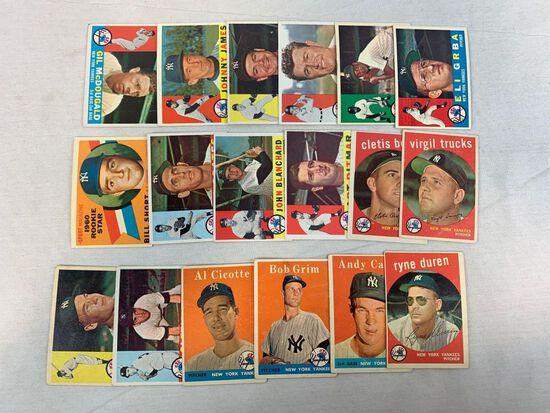 NY Yankees Vintage Topps Lot