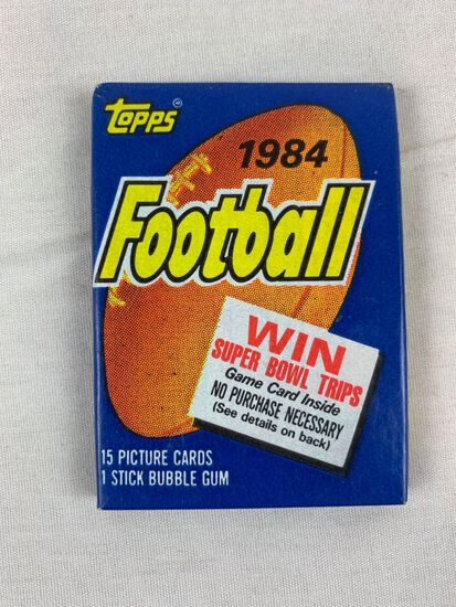 1984 Topps Football Unopened Pack