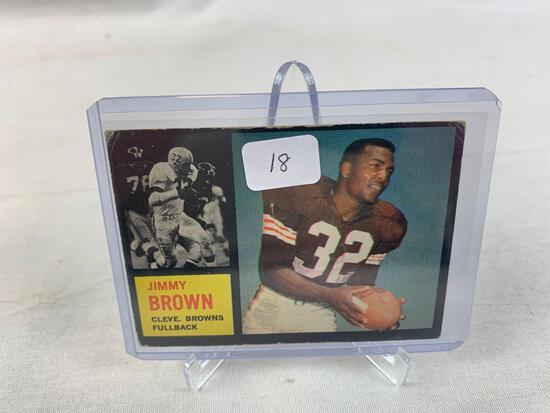 1962 Topps Cleveland Brown Jimmy Brown Football Card