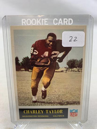 1965 Philadelphia Brand Football Card - Charley Taylor Rookie