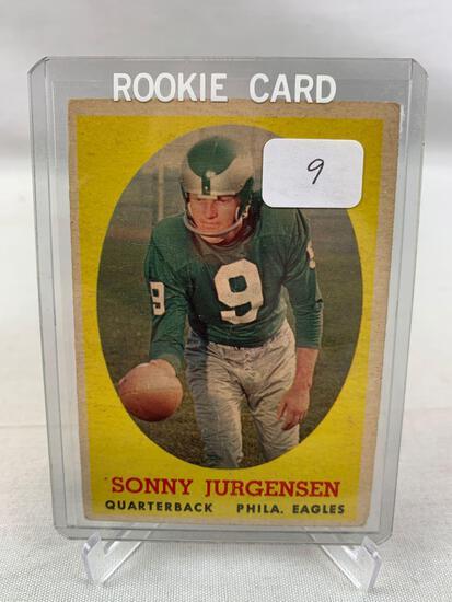 1958 Topps Sonny Jurgensen Rookie Football Card