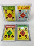 Four 1963 Topps Baseball Leaders Cards #1, #4, #5 & #6 - VG to EX Condition