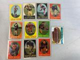 Eleven 1958 Topps Football cards - Cleveland Browns Team Card, Nolan, Parilli, LeBaron, Brown, Hill,