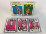 Five 1971-72 Topps Basketball Cards - Rick Mount card #213, Mel Daniels card #195, Roger Brown card