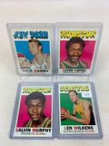 Four 1971-72 Topps Basketball Cards - Len Wilkens card #80, Calvin Murphy card #58, Elvin Hayes card