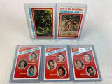 Five 1971-72 Topps Basketball Cards - Leaders Cards #146 with Issel, Brisker & Scott pictured; #147