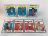 Seven 1971-72 Topps Basketball Cards - Rookie Cards Louie Dampier card #224; Charlie Scott card #190