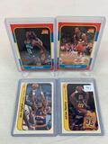 Four 1986-87 Fleer Basketball Cards - Adrian Dantley Sticker card #3 of 11; Alex English Sticker car