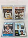 Four 1964 Topps Baseball Cards - Tommy John & Bob Chance Rookie card #146; Robin Roberts card #285;