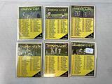 Six 1961 Topps Baseball Cards - Checklist cards #17, 98, 189, 273, 361 & 437