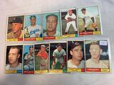 Eleven 1961 Topps Baseball Cards - Eleven different cards including Jim Kaat #63; Johnny Temple #155