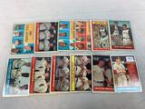 Twelve 1961 Topps Baseball Cards - Twelve different cards - Ten cards are Off Center EX Condition
