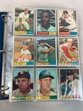 1961 Topps Baseball Partial Set of 223 different cards of the 587 - VG - EX+ Condition