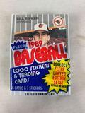 1989 Fleer Baseball Cello Pack Unopened with Bill Ripken error card on top