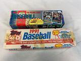 1994 Topps Baseball Factory Sealed Set & 1991 Topps Baseball Factory Sealed Set - Both complete sets
