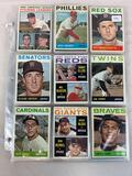 Sixty-eight 1964 Topps Baseball Cards - 68 different cards including Rookie cards and minor stars -