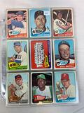 Sixty-three 1965 Topps Baseball Cards - Sixty-three different cards including team, rookie & checkli