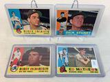 Four 1960 Topps Baseball Cards - Ed Mathews #420; Bobby Richardson #405; Dick Stuart #402 & Rocky Co