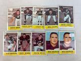 Ten 1964 Philadelphia Brand Cleveland Browns Football Cards - (2) Schafrath, Ryan, Morrow, Kreitling
