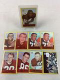 Nine 1967 Philadelphia Brand Cleveland Browns Football Cards - Browns v Giants, Brewer, Collins, Fic