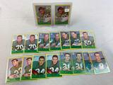 Seventeen 1967 Philadelphia Brand Philadelphia Eagles Football Cards - Lloyd, (2) Peters, (2) Retzla