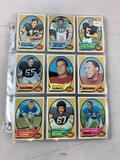 1970 Topps Football Partial Set including 120 different cards