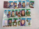 Twenty 1966 Philadelphia Brand Football Cards - 10 Philadelphia Eagles cards and 10 Detroit Lions ca