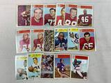 Seventeen 1966 Philadelphia Brand Football Cards - Three NY Giants, Five LA Rams, Nine Washington Re