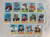 Fourteen 1968 Topps Football Cards