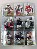 1996 Fleer Metal Football Set of 150 card which are metalized foil engraved by hand on each card fro
