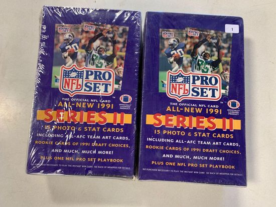 2-1991 Series 2 Pro Set Factory Sealed Wax Boxes
