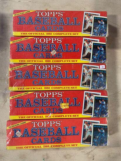5-1989 Topps Baseball Factory Sets