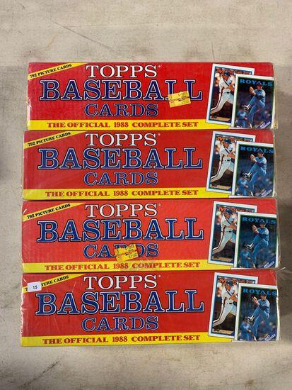 4-1989 Topps Baseball Factory Sets