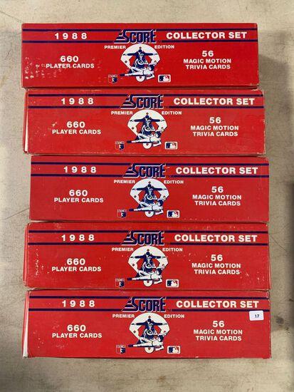 5-1988 Score Baseball Factory Sets