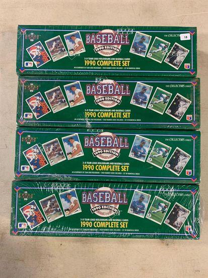 4-1990 Upper Deck Baseball Factory Sets