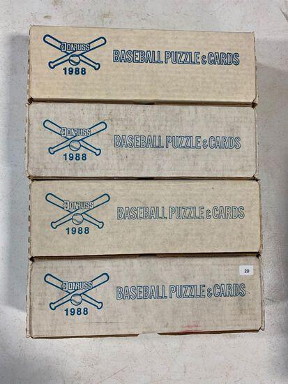 4-1988 Donruss Baseball Factory Sets