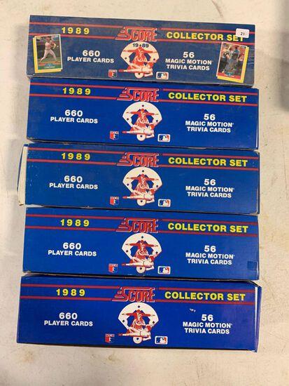 5-1989 Score Baseball Factory Sets