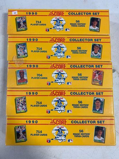 5-1990 Score Baseball Factory Sets