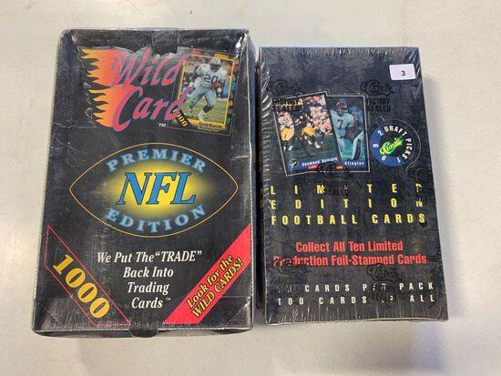 1992 Classic Draft Picks Football Wax Box/1991 Wild Card Football Box
