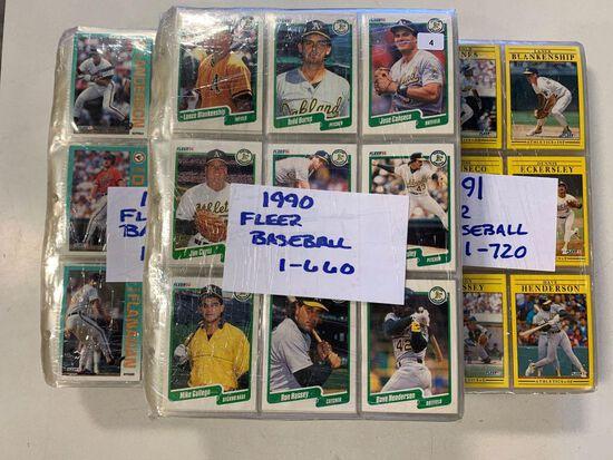 3-1990 Fleer Baseball Sets