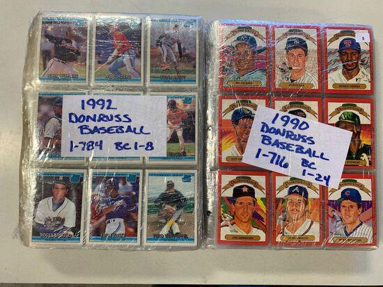 2-1990 Donruss Baseball Sets