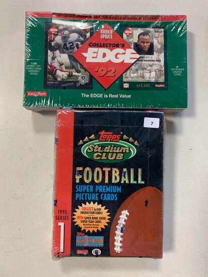 2- 1990's Football Wax Boxes- 1993 Series 1, Collectors Edge