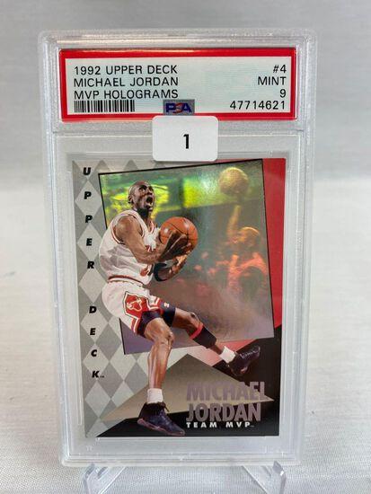 1992 Upper Deck Michael Jordan MVP Hologram PSA 9