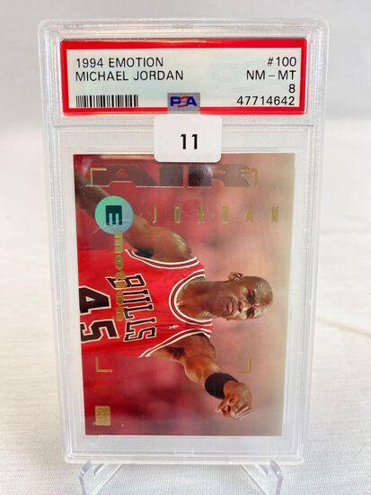1994 Emotion Michael Jordan PSA 8