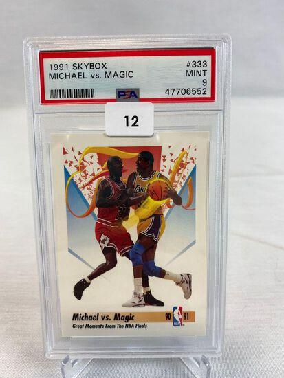 1991 Skybox Michael vs. Magic PSA 9