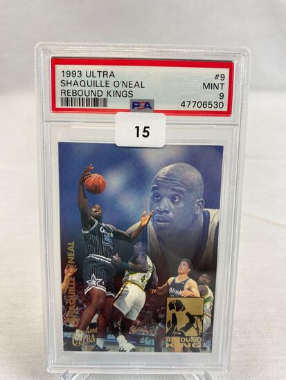 1993 Ultra Shaquille O'Neal Rebound Kings PSA 9