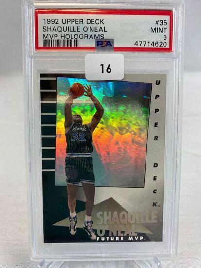 1992 Upper Deck Shaquille O'Neal MVP Holograms PSA 9
