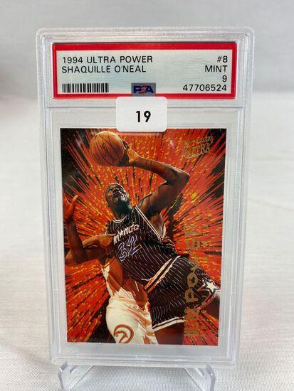 1994 Ultra Power Shaquille O'Neal PSA 9