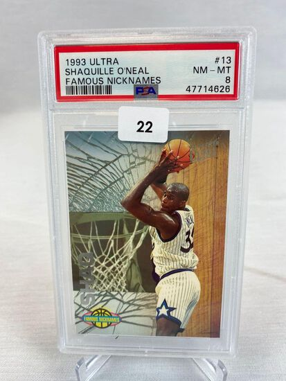 1993 Ultra Shaquille O'Neal Famous Nicknames PSA 8